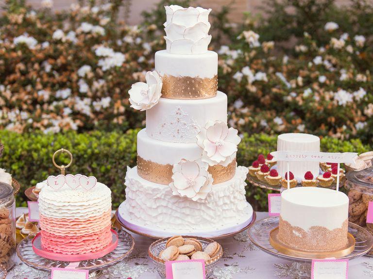Wedding cake as dessert table