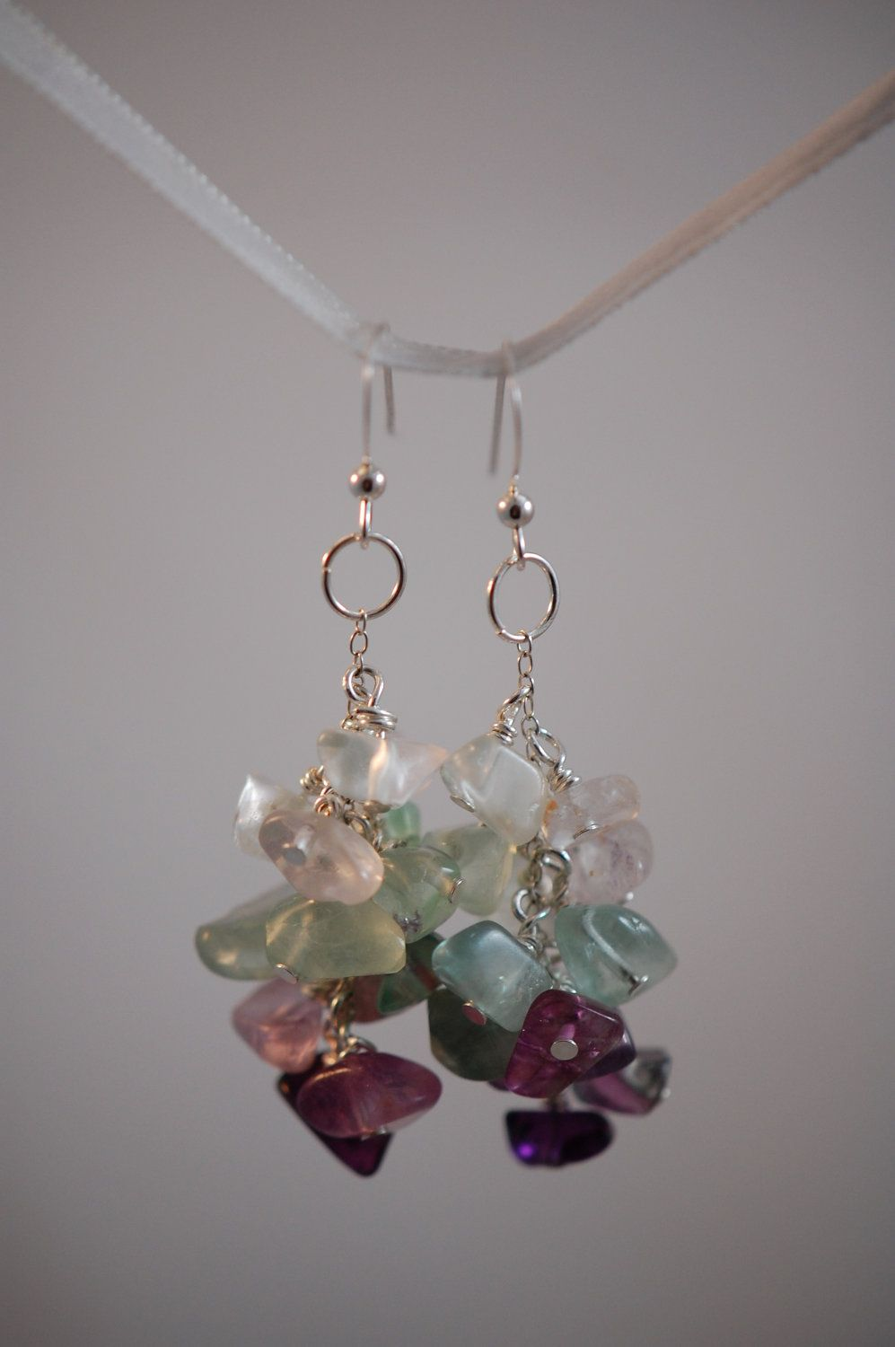 cb9674e29efb Fluorite chip earrings