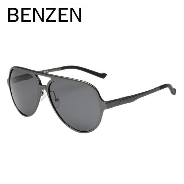 216037e5cd BENZEN Men Sunglasses Polarized Al-Mg Alloy Male Driving Oculos De Sol  Masculino With Case 9004