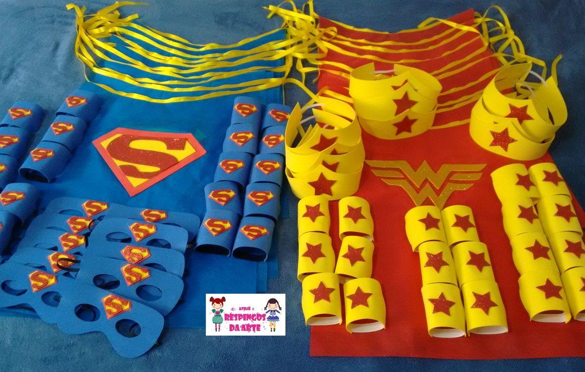 40b5f33dd6 Kit de 04 peças do tema Super Heróis ou Vingadores