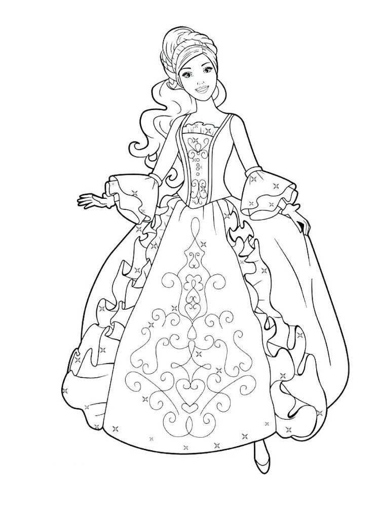Princesses Colouring Pages Free Below Is A Collection Of Beautiful Princesses Coloring Barbie Coloring Pages Princess Coloring Disney Princess Coloring Pages