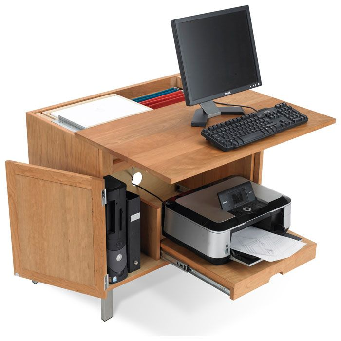 Timberland Computer Desk With Cpu And Printer Storage Computer