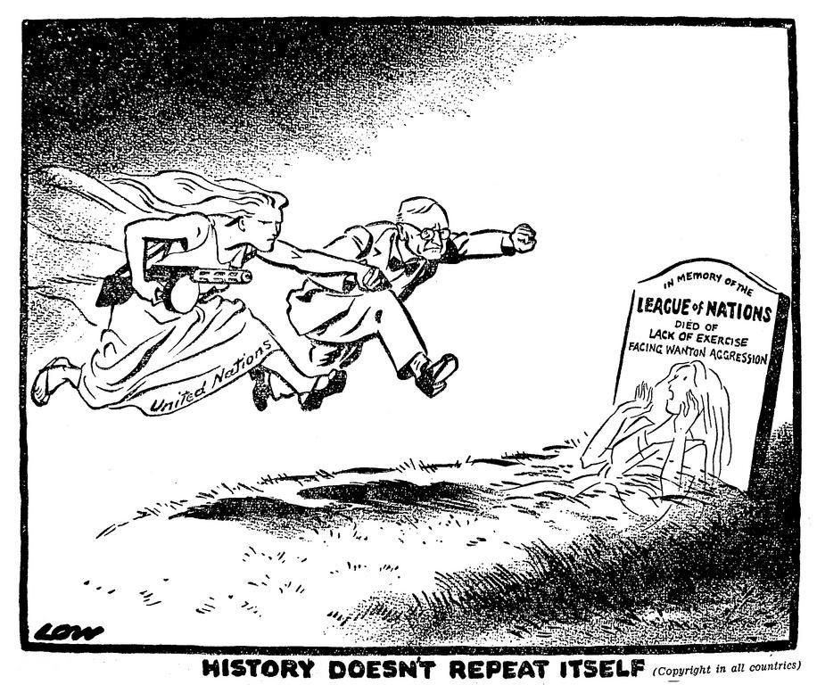 Cartoon by Low on the Korean War (30 June 1950) | Cartoons ...