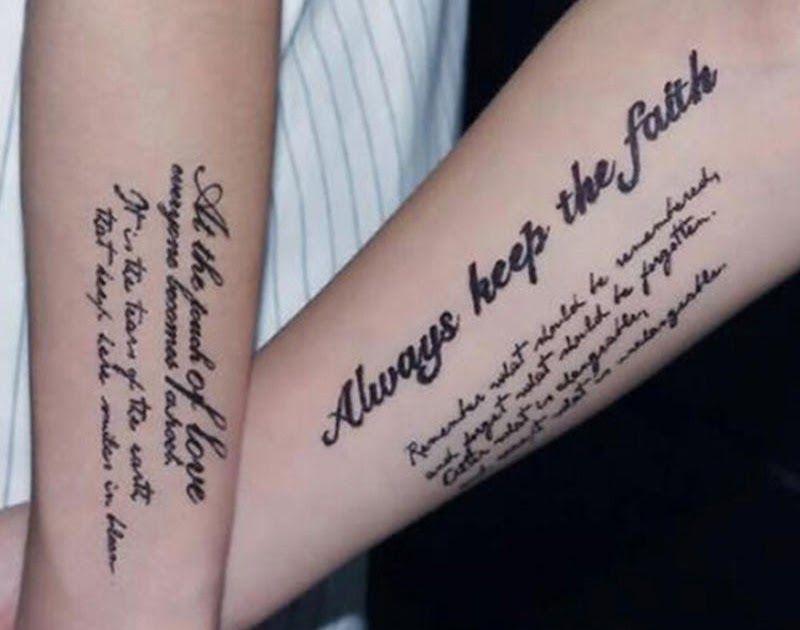 30 Tato Tulisan Keren Di Lengan Stiker Tato Sementara Motif Tulisan Bahasa Inggris Anti Air Dapat Dilepas 25 Gambar Tato Terlen Di 2020 Fake Tattoos Tato Tato Indah