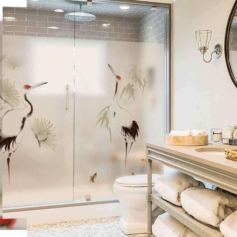 Chinese Style At Home Decorations Glass Window Film