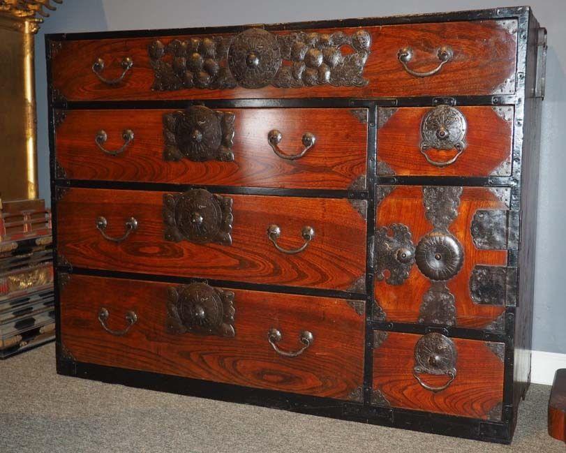 Japanese Antique Sendai Tansu | Japanese clothing, Antique furniture ...
