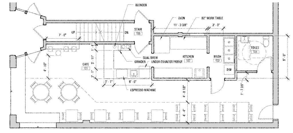 Restaurant and Coffee Shop Floor Plan Cafe Floor Plan Pinterest - fresh gym blueprint maker