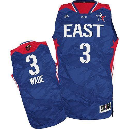 Heat  3 Dwyane Wade Blue 2013 All Star Stitched NBA Jersey  8df9bf8e3