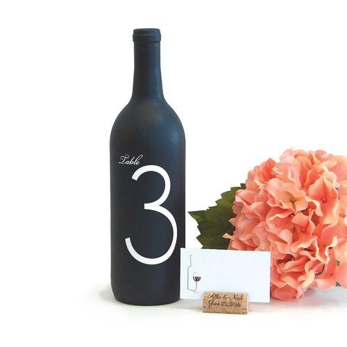 Real Weddings Cork: Wine Cork Place Card Holder