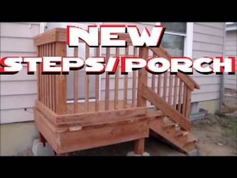 How To Build Freestanding Porch Steps Home Depot Diy Youtube