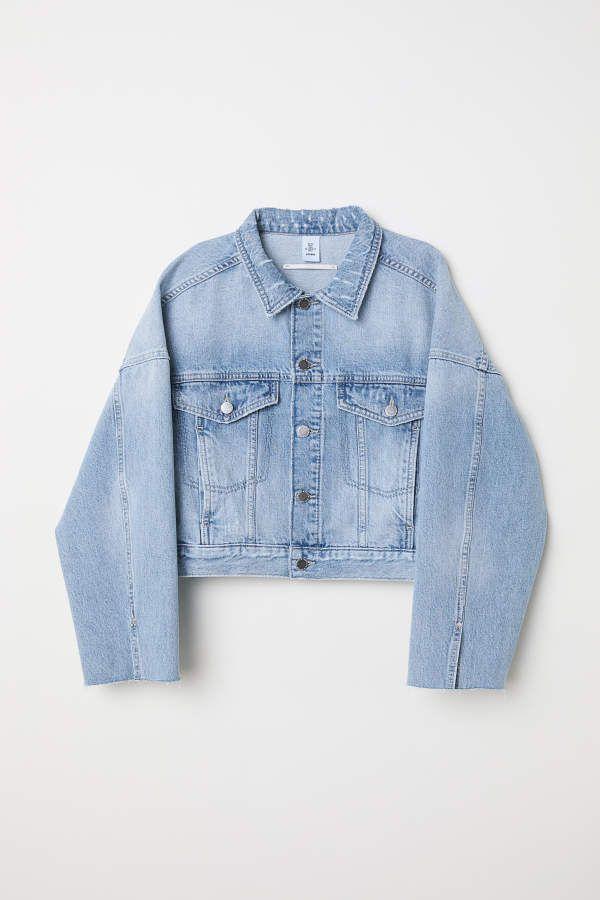 skate shoes no sale tax best wholesaler H&M H & M - Short Denim Jacket - Light denim blue - Women ...