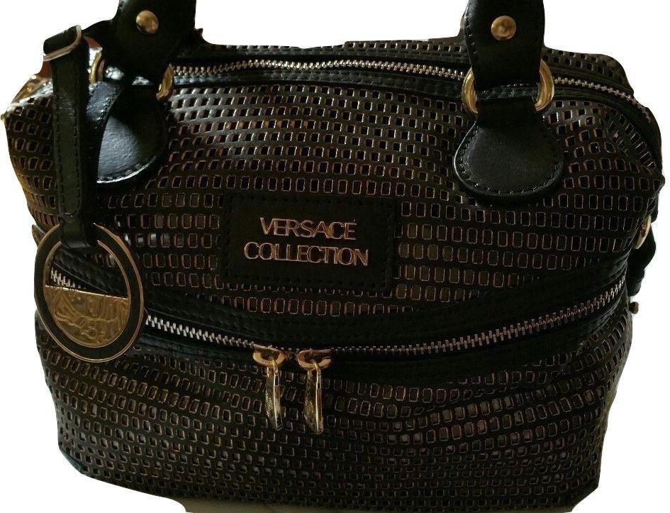 ad64e2703b93 Grand sac à main clouté en cuir   Coups de Coeur   Achetez des articles de luxe  neufs certifiés   Versace pour femme   Pinterest   Versace pour femme