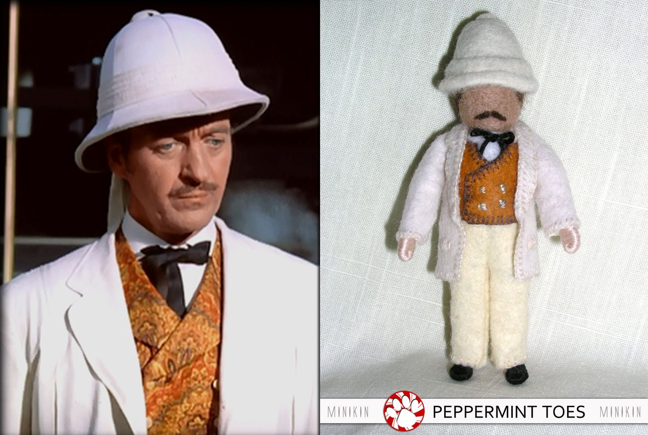 Jules Verne S Phileas Fogg And Passepartout As Minikin Dolls