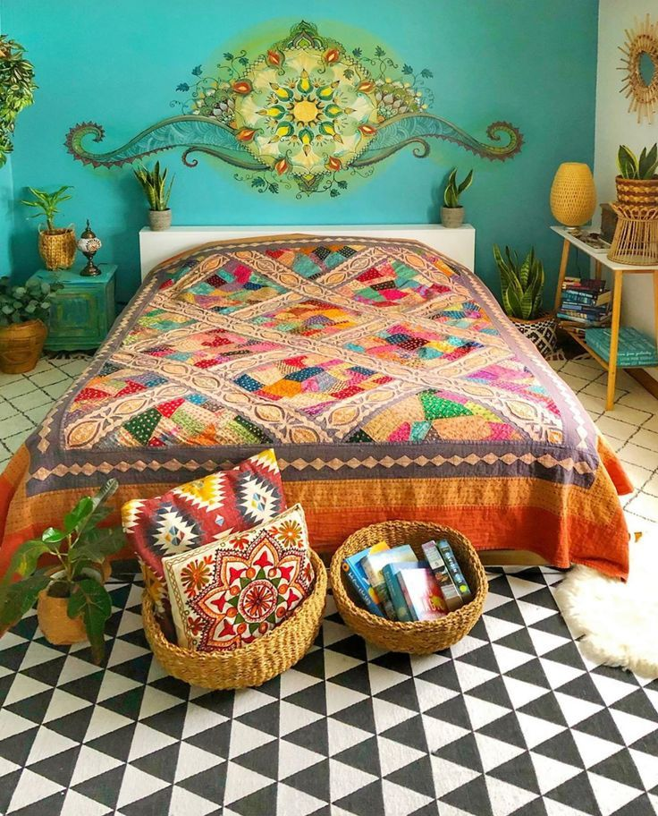 Colourful bedroom ideas