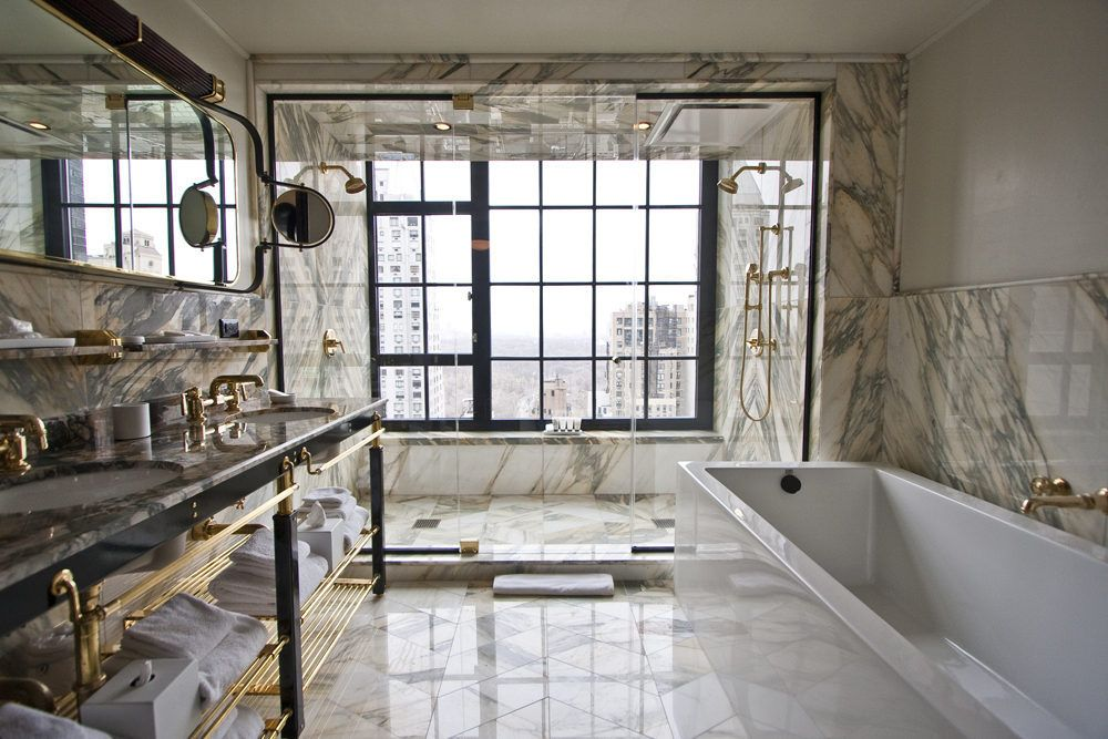 Nyc S Super Rich Want Bathrooms With Big Risque Windows Roman And Williams Bathroom Design Bathroom Interior