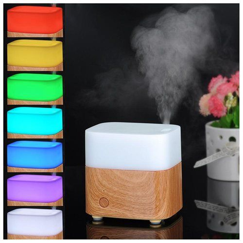 New Portable Cool Wood Grain Square Shape 120Ml Essential Oil Adorable Best Bedroom Air Purifier Design Ideas