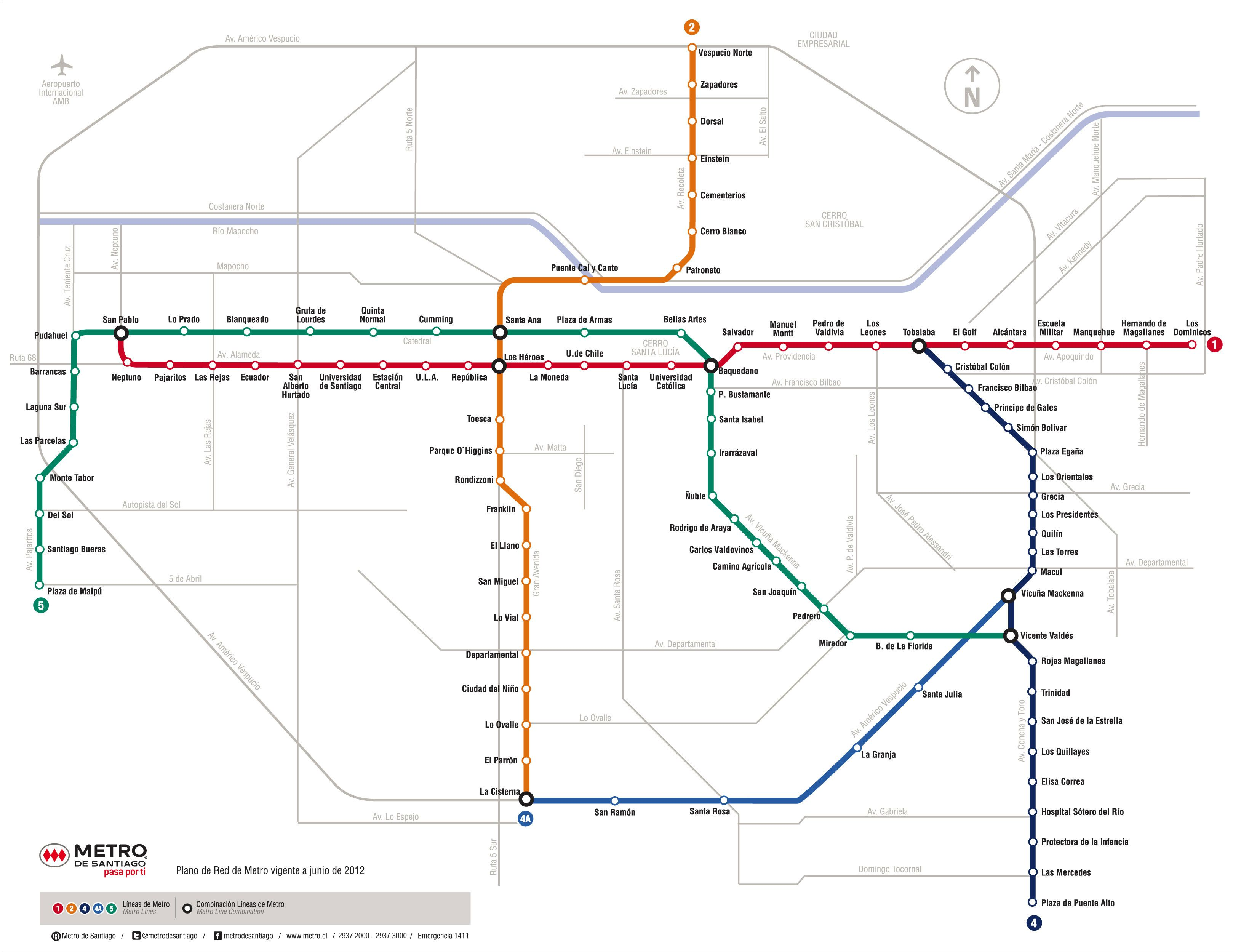 Argentina Subway Map.Santiago Metro Map Rappa Nui Easter Island Trip Of A Lifetime