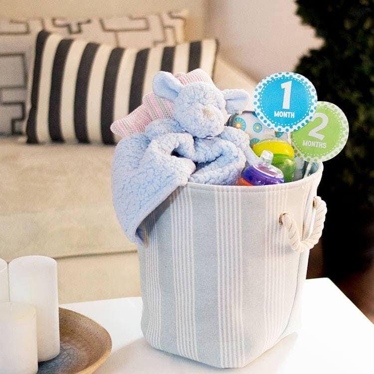 25+ baby shower gift basket ideas for boy Baby shower