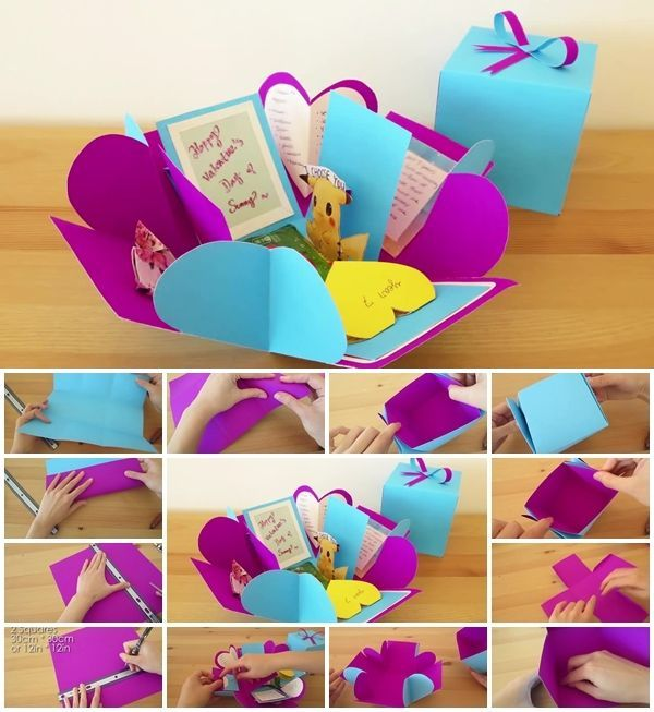 How To Make Surprise Exploding Box Diy Money Making Crafts Crafts Money Making Crafts