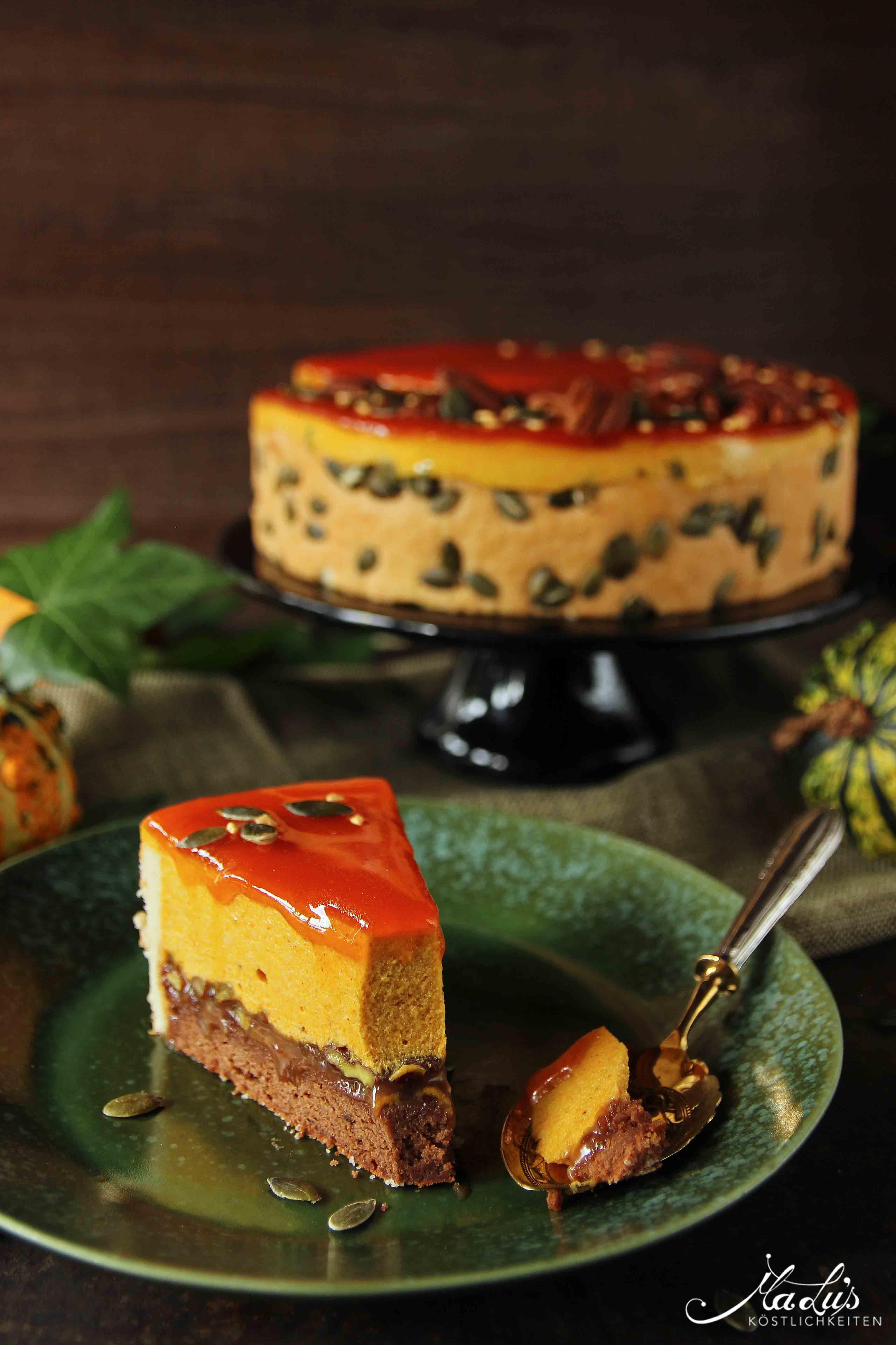 Feine Pumpkin Pie Torte - Maren Lubbe - Feine Köstlichkeiten #pumpkinpierecipe