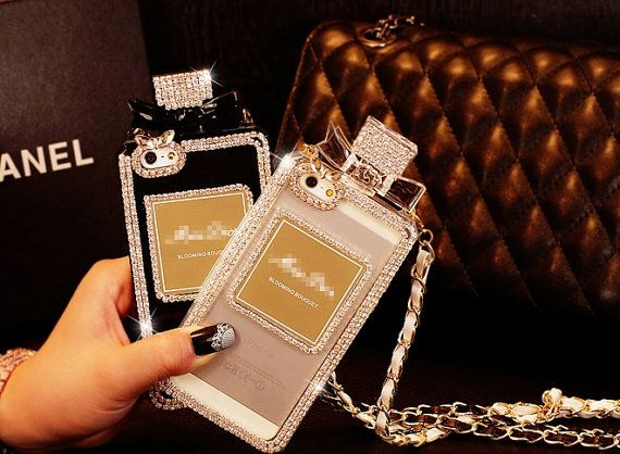 Perfume bottles iphone5s diamond apple 4s by uniqueclothing2000, $20.00