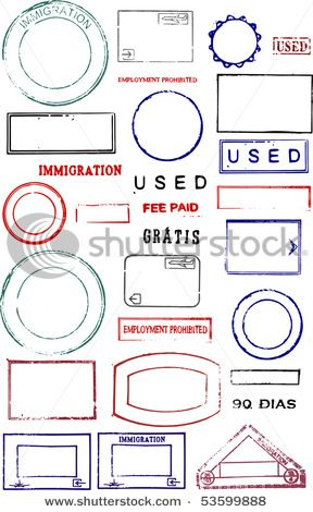Blank Editable Passport Stamps On A White Background By Cwb