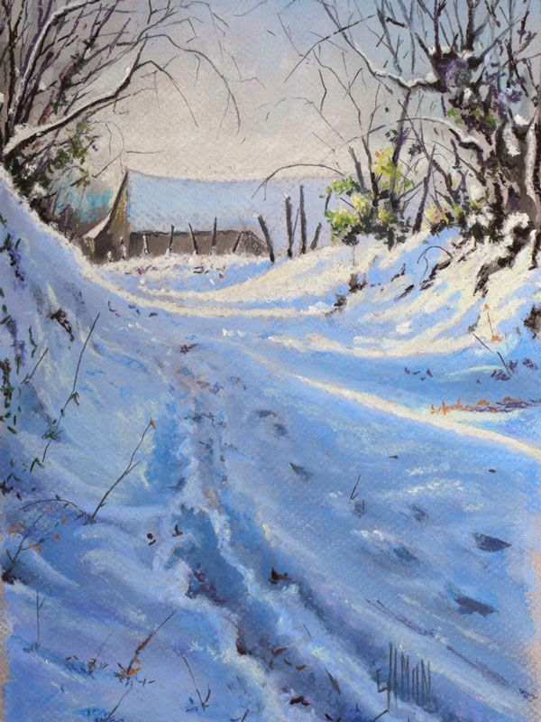 For t sous la neige by jo l simon roughly translated it means 39 the forest under snow - Paysage enneige dessin ...