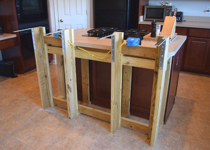 build a bar with kitchen cabinets diy breakfast bar frame built to an existing kitchen 12591