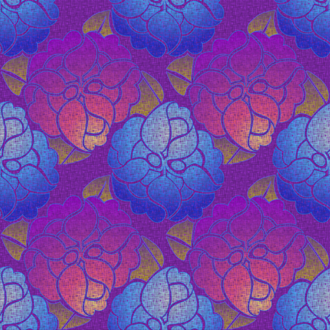 Floral Tempo fabric by glimmericks on Spoonflower - custom fabric - sold on assorted fabrics, wallpaper, fabric decals, and giftwrap.  Custom colors and scales and custom designs on request - www.glimmericks.com