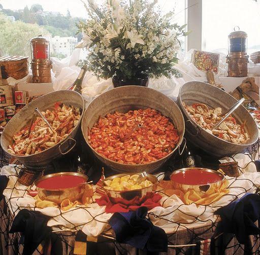 Beach Wedding Reception Food Ideas: Salty's Buffet At Redondo Beach