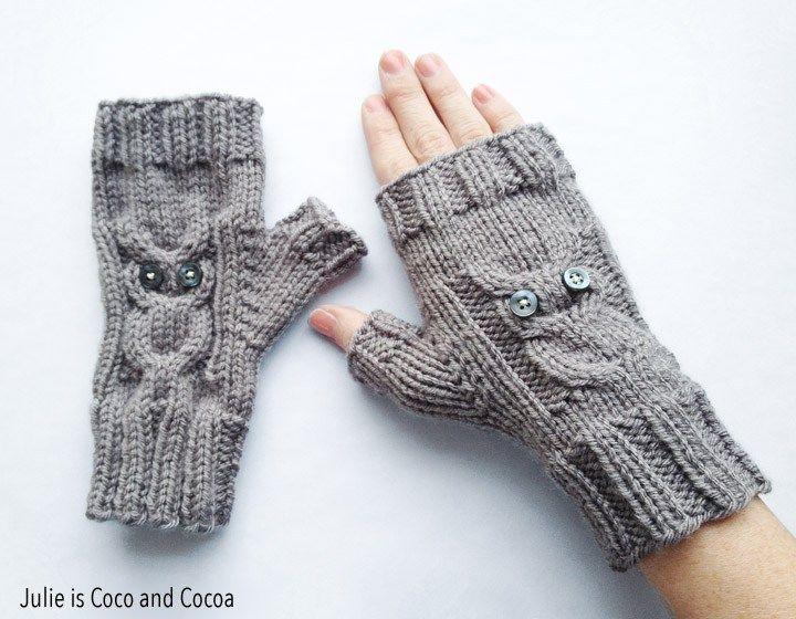 Owl Gloves Knit Pattern Crochet And Knitting 8 Pinterest Knit