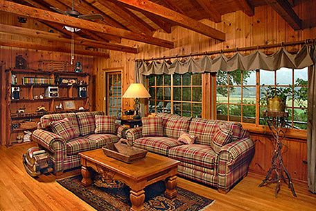 Living Room In A Log Home Furniture Style Farmhouse Style Log Cabin Log Home Neutral Living Log Cabin Living Room Furniture Cabin Living Room Cabin Living