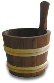 The 4L Oiled Sauna Bowl is hand made in Finland with Heat Treated wood.