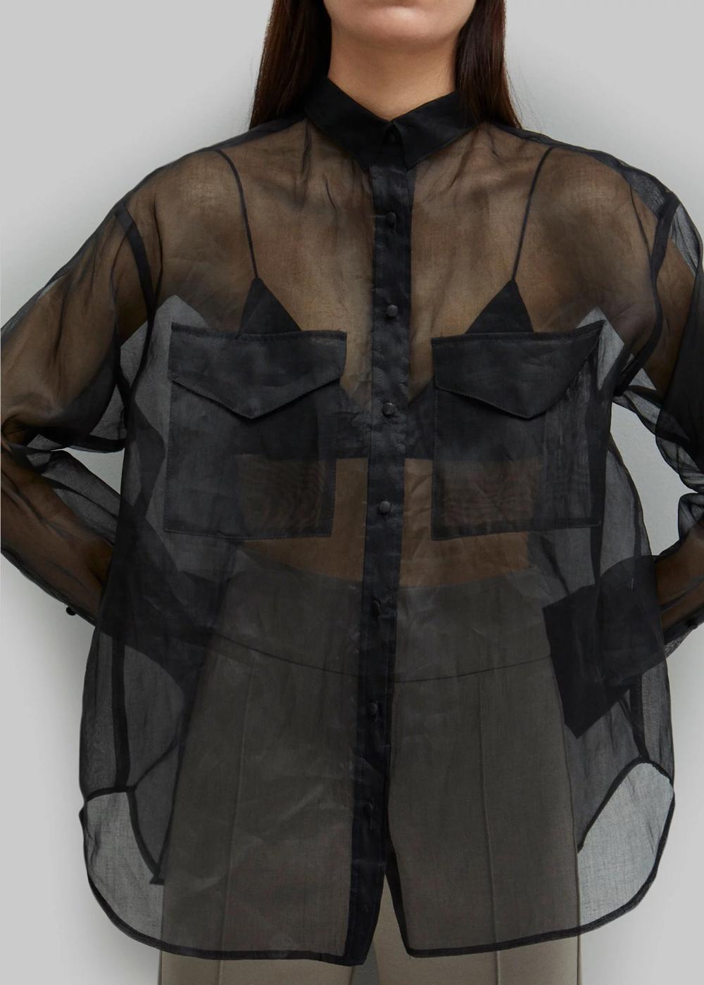 Novella organza shirt black