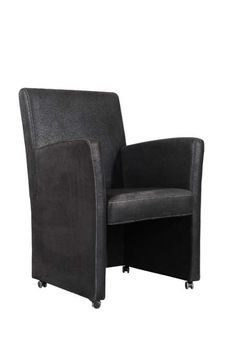 Armrest Dining Chair With Casters View Armrest Dining Chair With