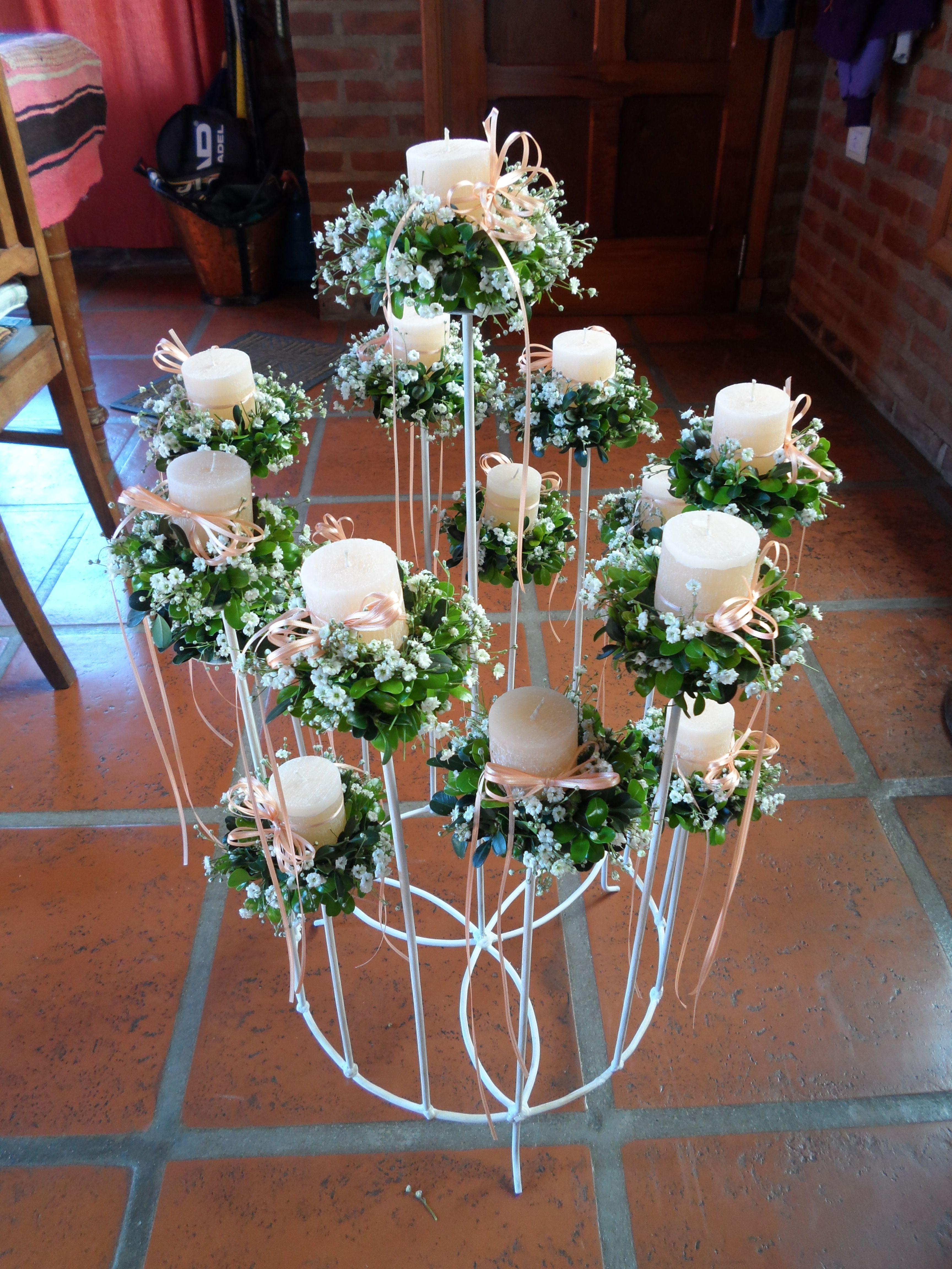 Candelabro 15 velas ideas para el hogar candles quinceanera y manualidades - Soporte para velas ...