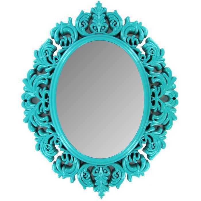 Turquoise Victorian Mirror teenage girly room decor