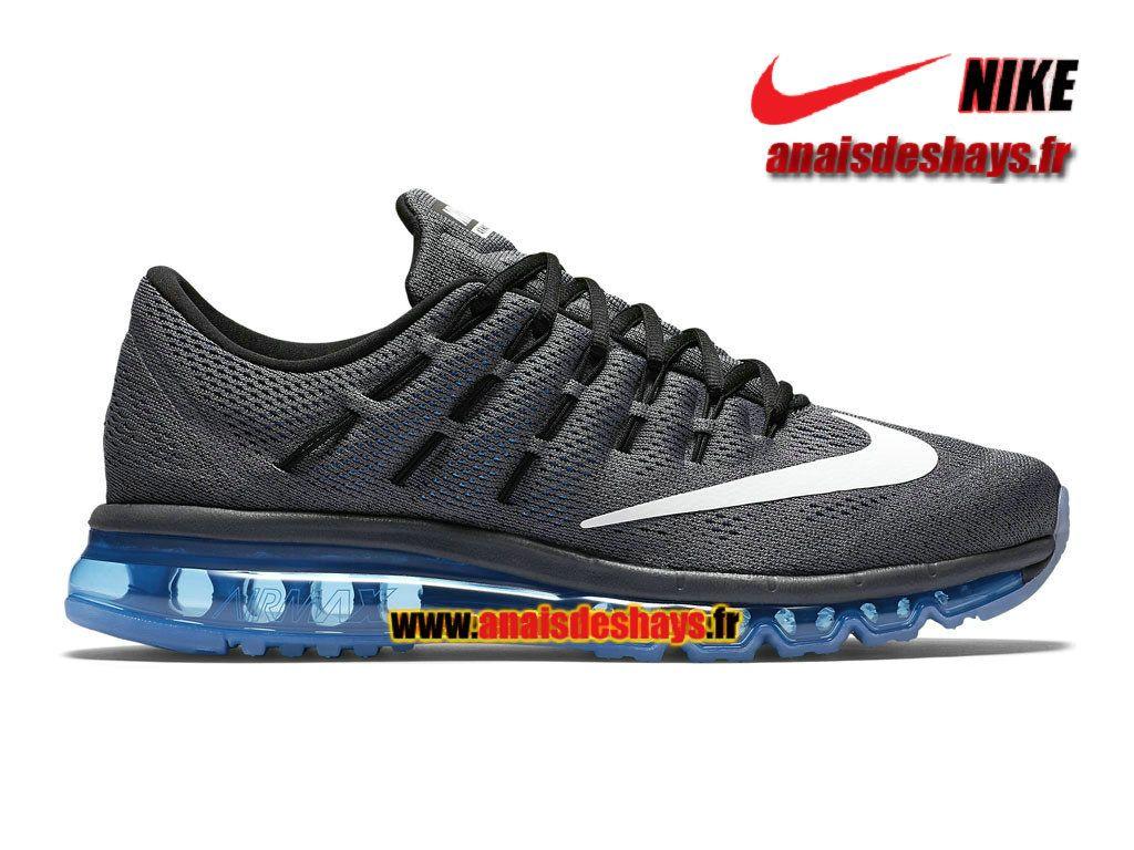 Boutique Officiel Nike Air Max 2016 - De Running Homme Gris foncé Bleu  photo  dd41bbcf3aa5