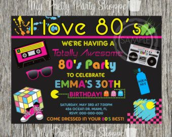 80s Birthday Banner Party