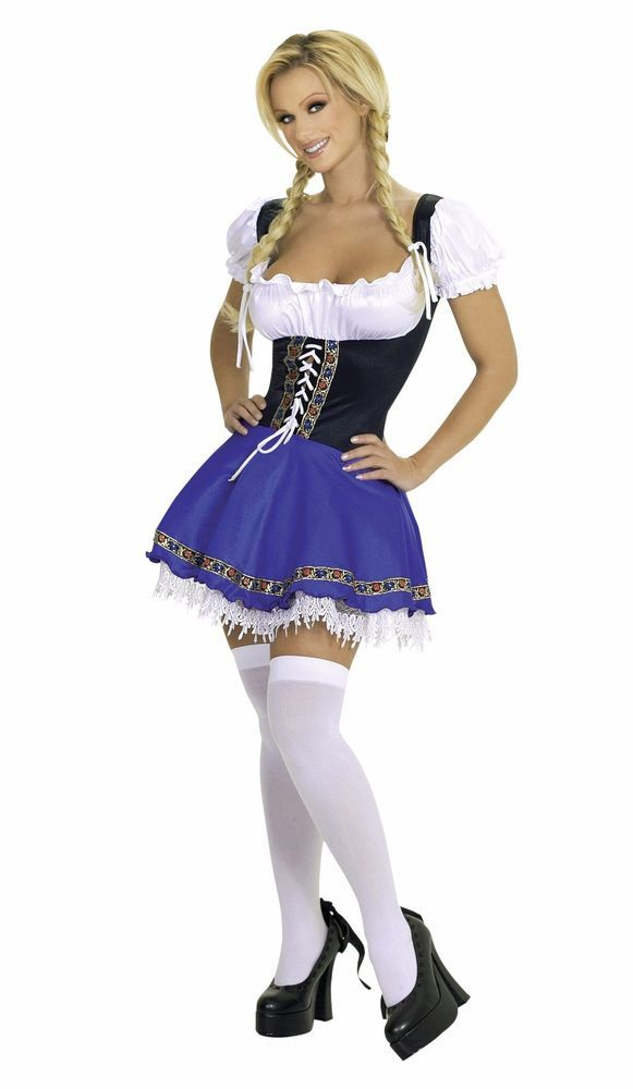 068ade010 Sexy Beer Girl Swiss Miss Oktoberfest Halloween Costume Genuine Roma  Product  Roma  Dress