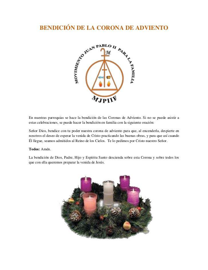 Oración para Corona de Adviento | Navidad | Pinterest | Fun food ...