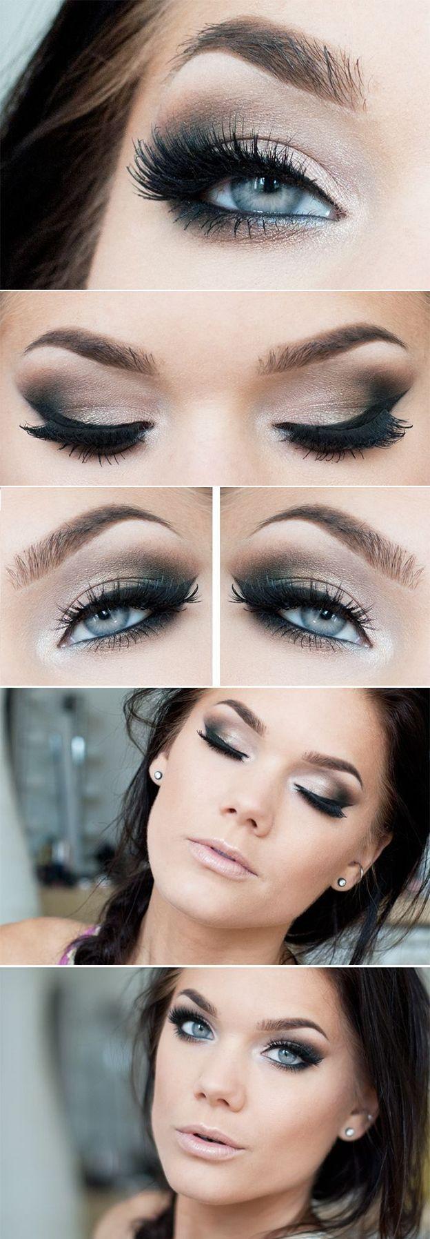 Как правильно красить голубые глаза: секреты макияжа ...
