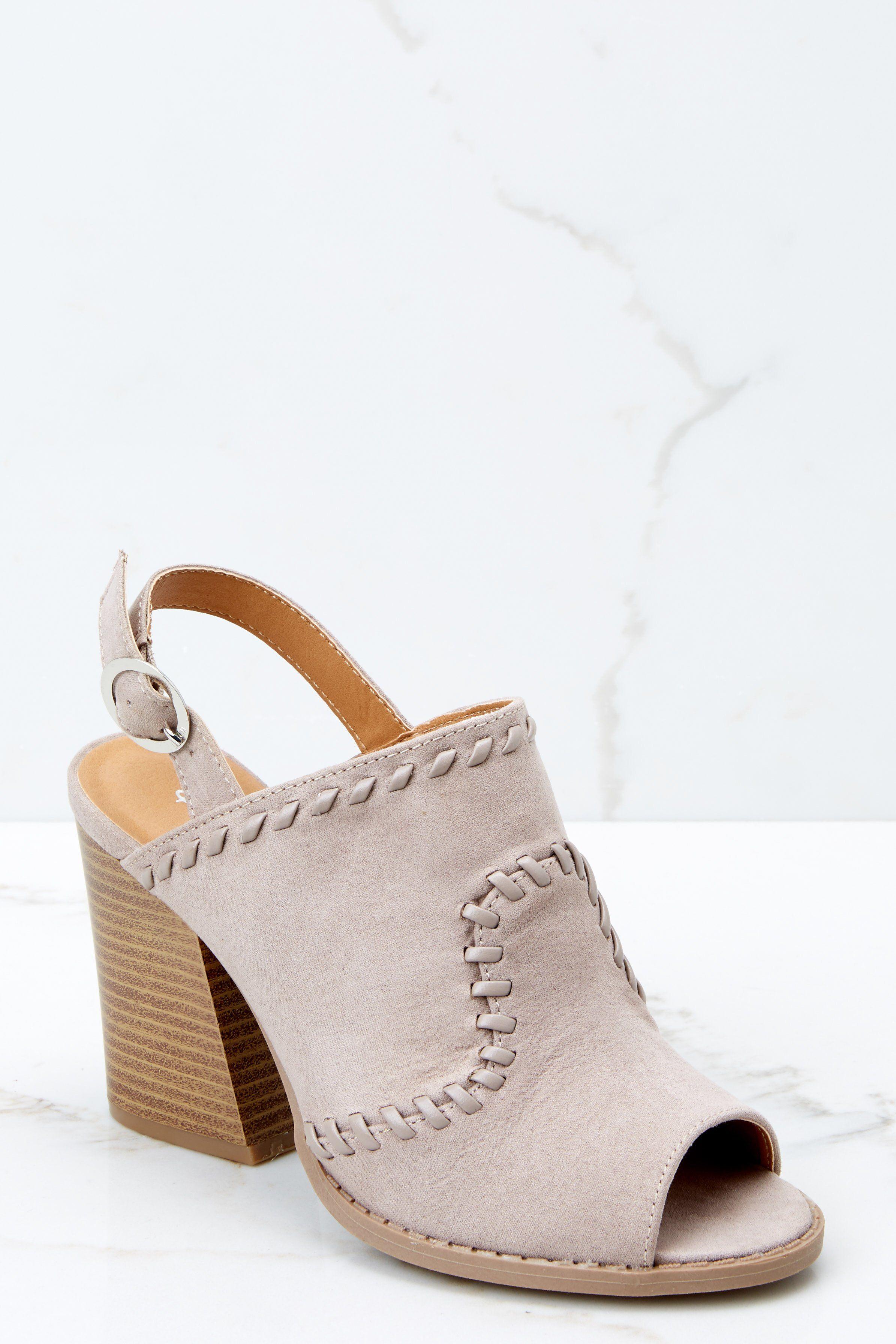 b5ec63a8cc0b Trendy Taupe Peep Toe Heels - Taupe Heels - Heels -  38.00 – Red Dress  Boutique