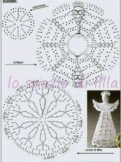 Collezione di angeli all uncinetto con schemi Crochet angels