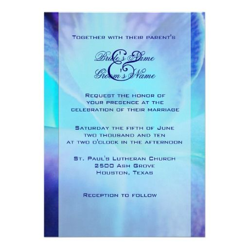 Blue Orchid Wedding Invitation | Wedding ❤ | Pinterest | Orchid ...