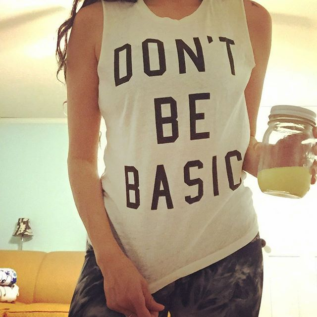 Don't be Basic muscle tank