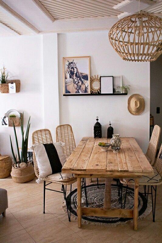 Mein boho zuhause dekoriert mit darin design produkten for Echtholztisch esszimmer