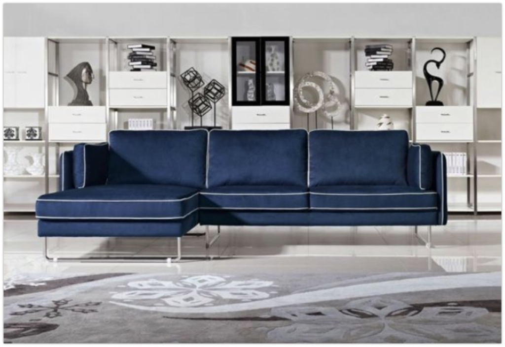7 Awesome Blue Sectionals For Modern Homes Cute Furniture Fabric Sectional Sofas Blue Sofa Living Blue Leather Sofa