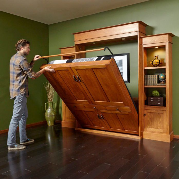 Diy Murphy Bed And Bookcase Murphy Bed Bookcase Build A