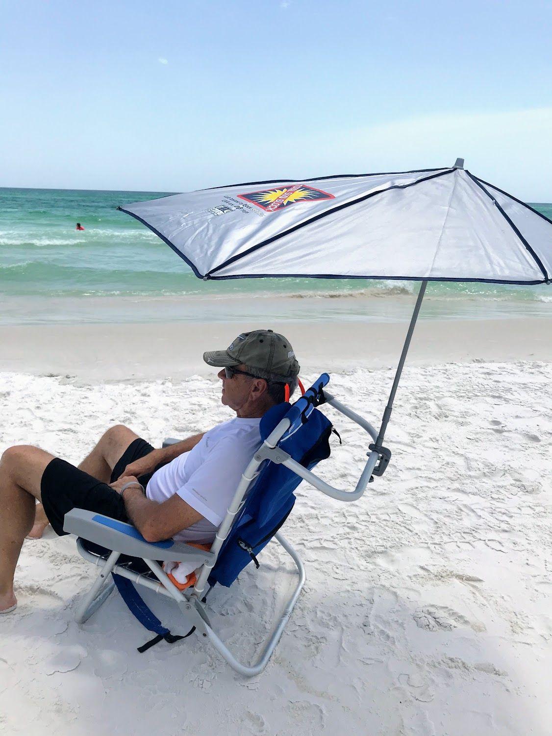 Clamp On Beach Umbrella Beach chair with canopy, Beach